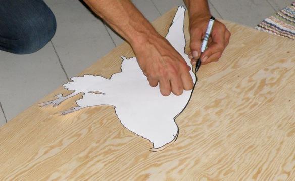 omrisstegning hønsehauk